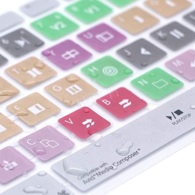 c63cb91a3 Avid Media Composer Hot keys Keyboard Cover Skin For Apple Keyboard with  Numeric Keypad Wired USB for iMac G6 Desktop PC Wired-in Keyboard Covers  from ...