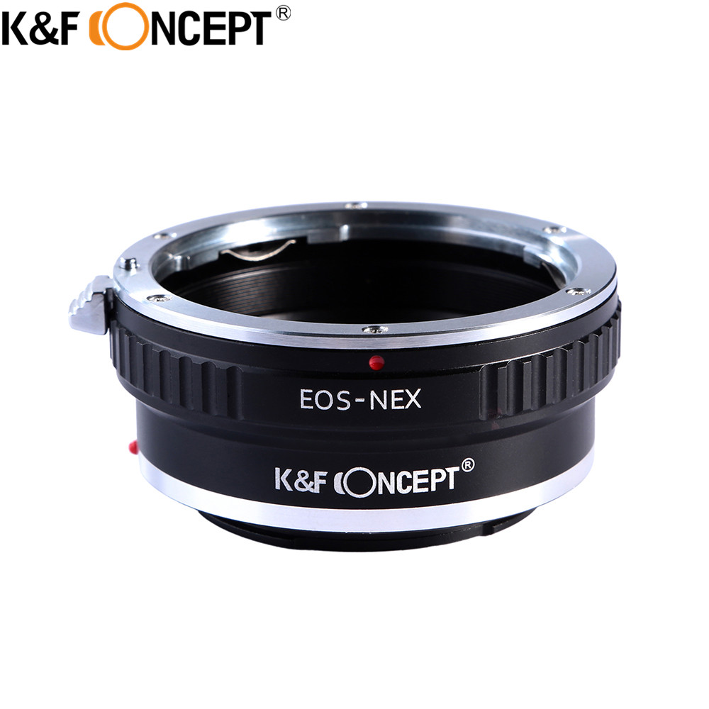 K & F KONCEPT For EOS-NEX Kamera Lens Adapter Ring For Canon EOS EF - Kamera og bilde