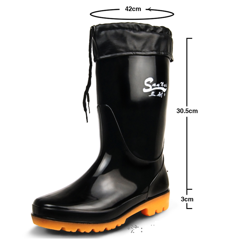 Men's Super Size Rain Boots PVC Fishing Shoes Men Waterproof Gumboots Large Code 48 49 50 51 52