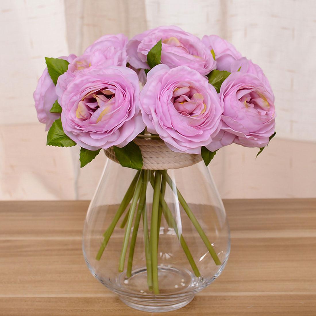 Peony Home Flower Decoration Accessories 6 Heads Silk Dahlias ...