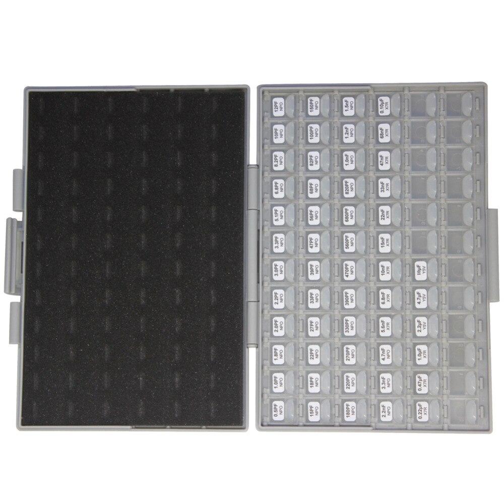 AideTek SMT/SMD 0603 tamanho kit com caixa de armazenamento caixa de capacitor organizzation 50 v x 10 pcs variedade de plástico caixa de ferramentas C0610 - 4
