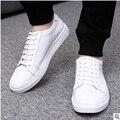 Unisex Dos Homens Baratos da marca Designer couro Genuíno autêntico Plus Size 47 sapatos de Plataforma Única Casuais Rendas até Sapatos Kvoll Preto Branco