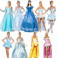 2016new Adult Snow White Costume High Quality Queen Cosplay Clothes Fairy Tale Party Dress Carnival Halloween
