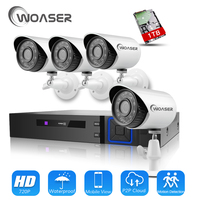 WOASER 720P 1500TVL HD Outdoor Home Security Camera System 4CH 1080N HDMI DVR 1 0MP CCTV