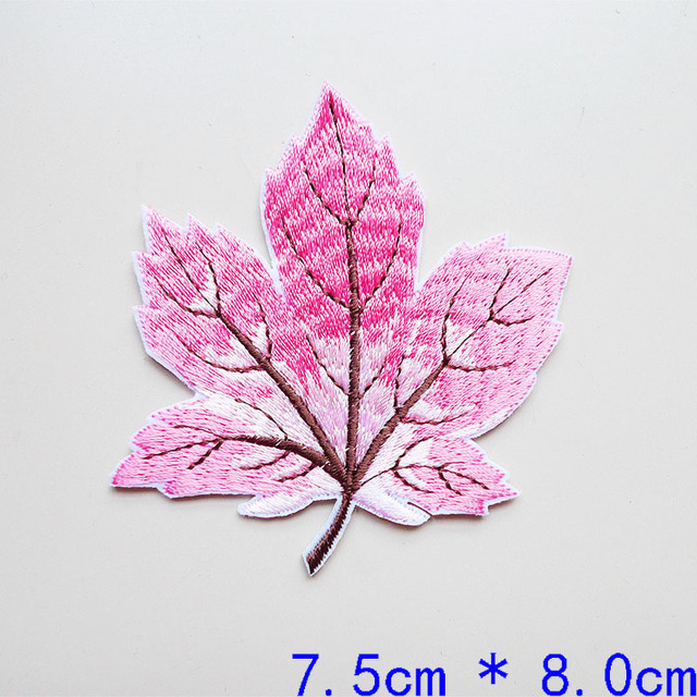 LEAF Patch Iron On Patch Embroidered Patch Jacket Patch Clothes Patch Applique mask patch   73