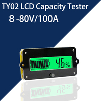 80V 100A Battery Capacity Tester Indicator Test For LCD Lithium Battery / Lithium Iron Phosphate / Lead Acid Coulombmeter