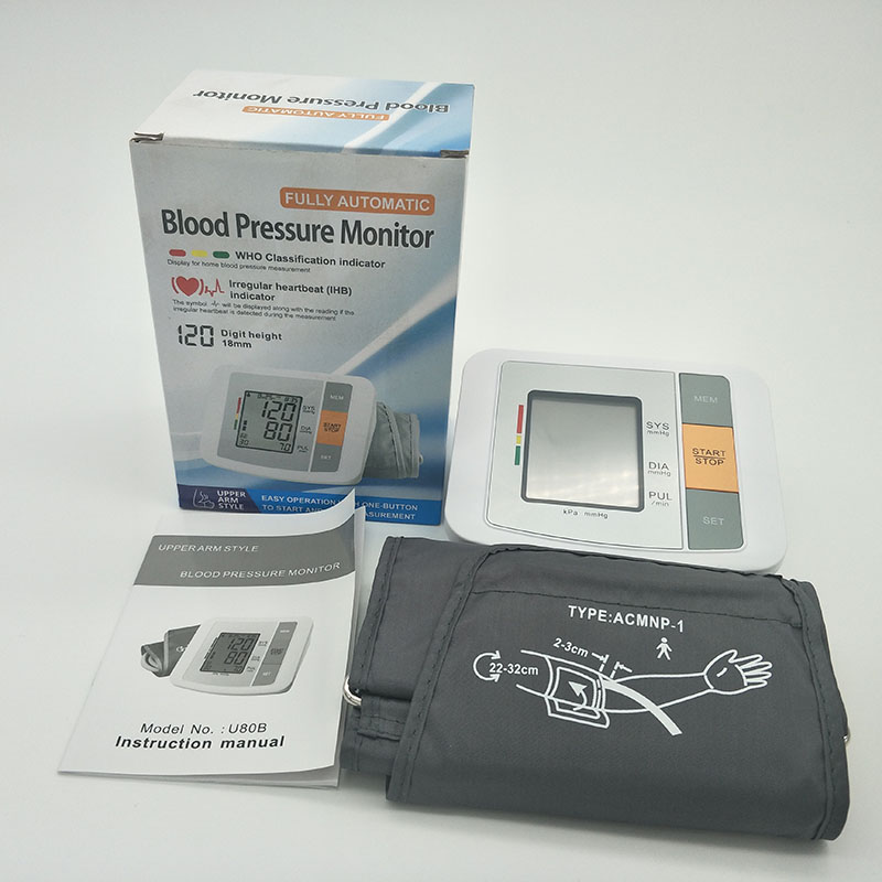 Household Digital Upper Arm Blood Pressure Health Monitor Electronic Automatic Monitor Heartbeat Indicator Tonometer Sphygmomano upper arm type intelligent voice electronic sphygmomanometerthree color backlight blood pressure instrument household
