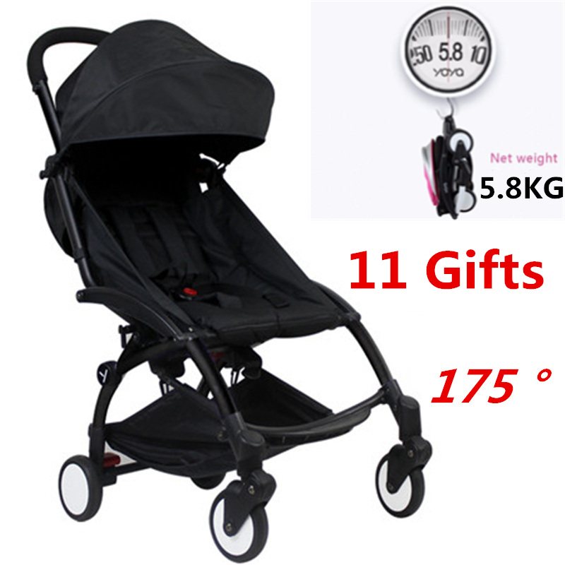 175 Degree Yoya Baby Stroller Can Sit Lie Portable Lightweight Baby Car Pram Umbrella Wagon Baby Carriage Babyzen Yoyo Stroller 5 3kg baby stroller pram stroller ultra portable baby umbrella baby car foldable wheelchairs poussette baby carriage