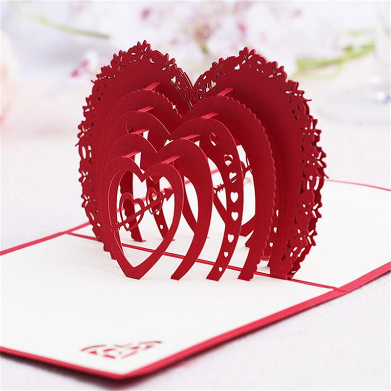 5set casamento 3d birthday gift cards heart handmade decoupage 5set casamento 3d birthday gift cards heart handmade decoupage creative kirigami origami greeting cards with envelope in cards invitations from home m4hsunfo