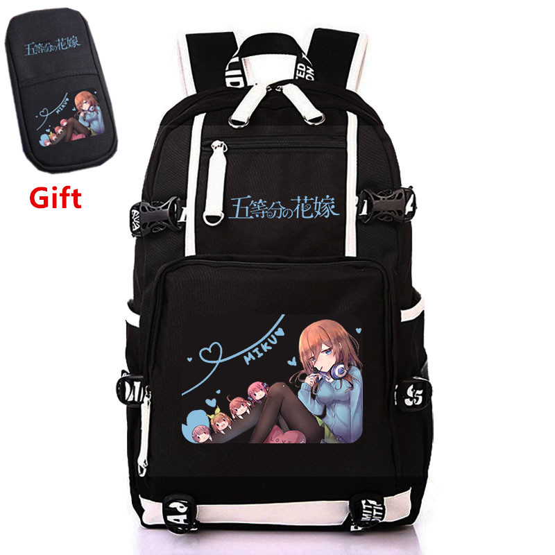The Quintessential Quintuplets Nakano Miku Cosplay Women Backpack Canvas School Bags For Teenage Girls Laptop Backpack Bookbag