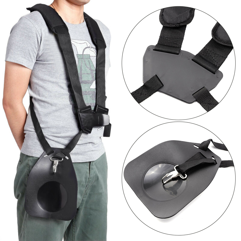 Buckle Brush Cutter Harness Strap Clamp Gardening Tool Bracket Carry Hook Double Shoulder Trimmer