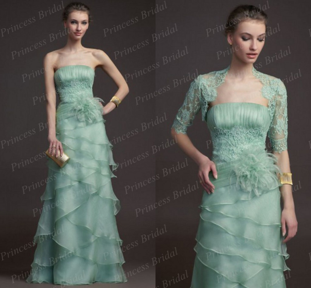 Free Shipping A Line Strapless Appliques Big Flower Tiered Organza ...