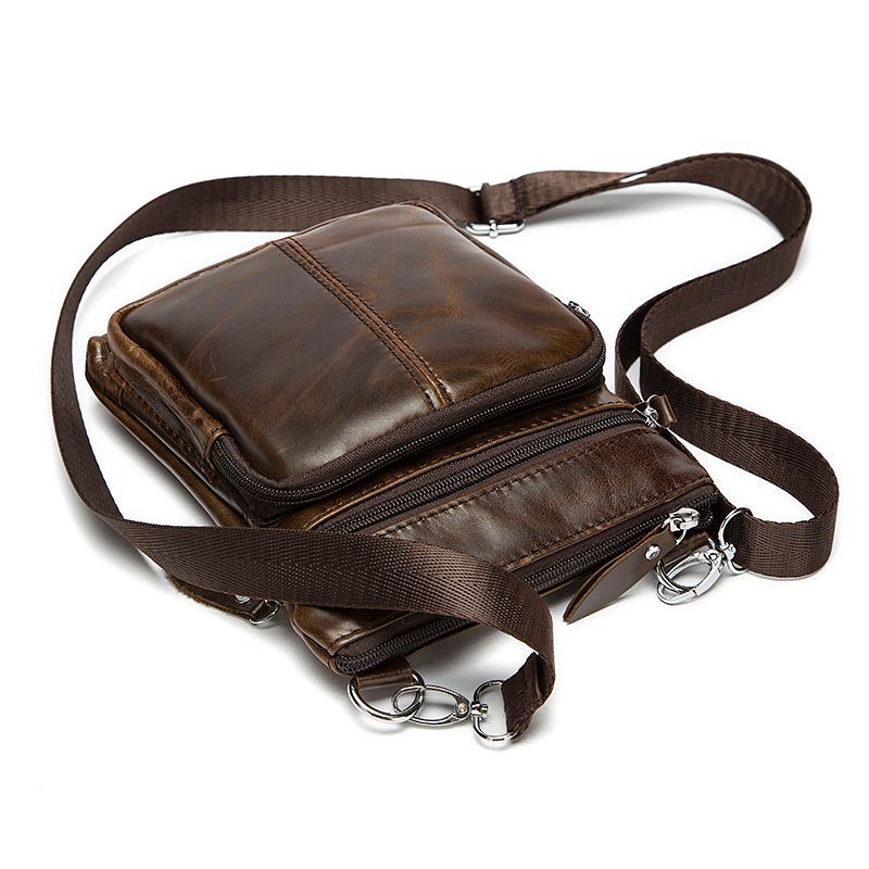 Messenger Bag Men's Shoulder Genuine Leather bags Flap Small male man Crossbody bags for men natural Leather bag