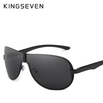 KINGSEVEN 2018 Luxury Brand Design Polarized Sunglasses Men Aluminum Big Mirror Lens Sun Glasses Male Goggles Eyewear Oculos