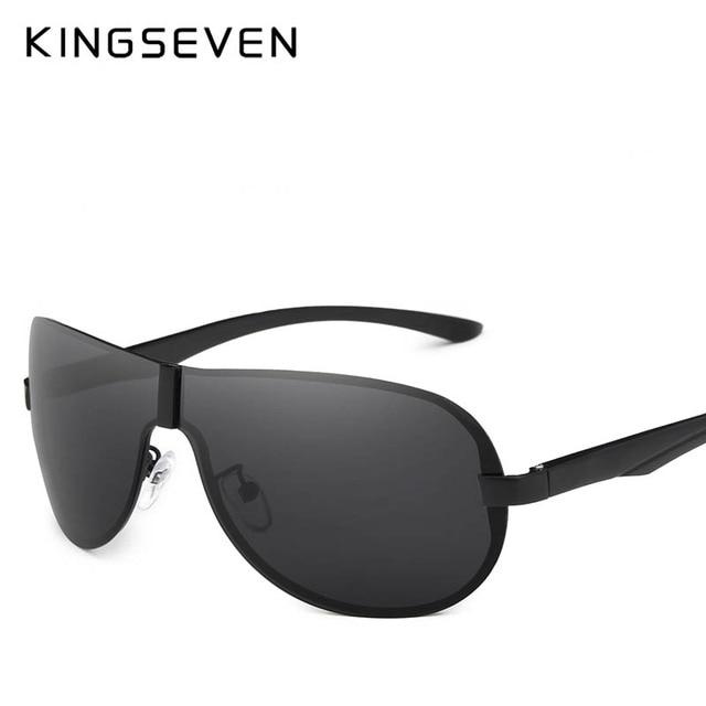 KINGSEVEN 2018 Luxury Brand Design Polarized Sunglasses Men Aluminum Big Mirror Lens Sun Glasses Male Goggles Eyewear Oculos
