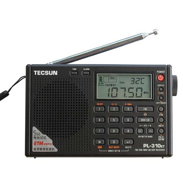 Tecsun PL310ET Full Band Radio Digital Demodulator FM/AM Stereo Radio TECSUN PL-310 panda panda 6130 full band digital stereo radio signal stabilization русский вступительный экзамен 46 прослушивание черный