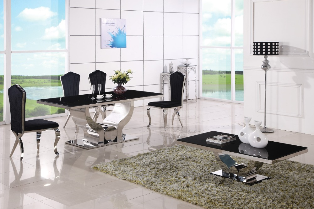 US $1128.0 |Economici moderni tavoli tavolo da pranzo e sedia da pranzo 6  sedie-in Tavoli da pranzo da Mobili su AliExpress