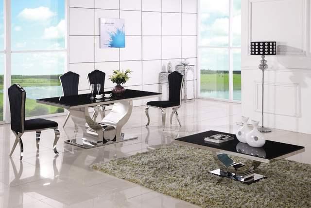 €1028.29 |Mesas de comedor modernas baratas mesa de comedor y silla 6  sillas-in Mesas de comedor from Muebles on AliExpress