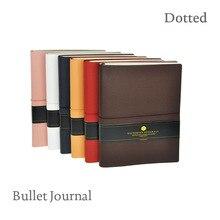 Лучшие Смит Bullet Journal Flexy чехол из кожзаменителя с упругие пунктирной Ежедневник недатированный