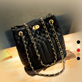 HS RHYME New Korean Version Quilted Handbags Small Bag Buckle Casual Shoulder Messenger Bag Bucket Bag Small Fragrant Wind