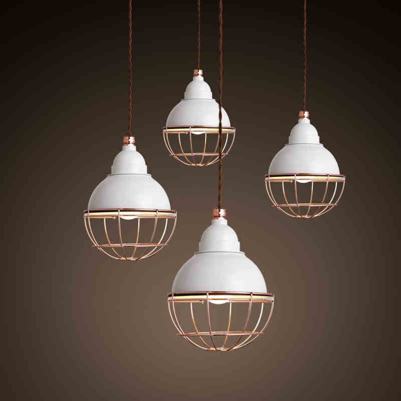 Modern minimalist personality iron single head cage small restaurant bar aisle bedroom chandelier creative corridor lighting