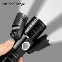 CoolChange Bicycle Light Waterproof 3 Headlights Handlebar Cycling Front USB Charging Bike Flashlight Accessories