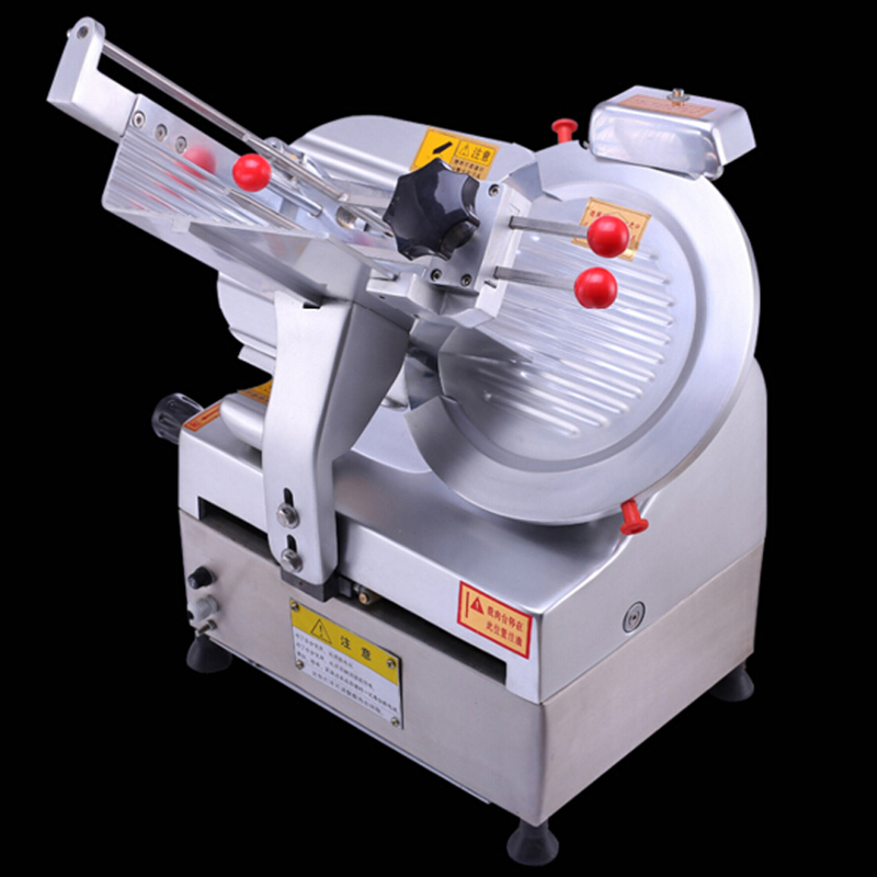 VOSOCO Slicing Machine Commercial automatic Mutton slicer roll beef slicer commercial frozen meat slicing 550W Restaura Hotel electric bread slicing slicer machine beef oion saw meat cutter