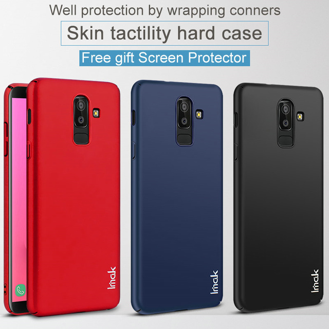 sports shoes 7cef1 5569c US $4.99  J8 J800F Case Imak Jazz 360 Full Protective Cover For Samsung  Galaxy J8 J800F Scrub Back Cover Frosted Matte PC Case + HD Film-in Fitted  ...