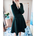 2016 autumn dress skirt pendulum lady windbreaker long temperament lady's coat coat of cultivate one's morality