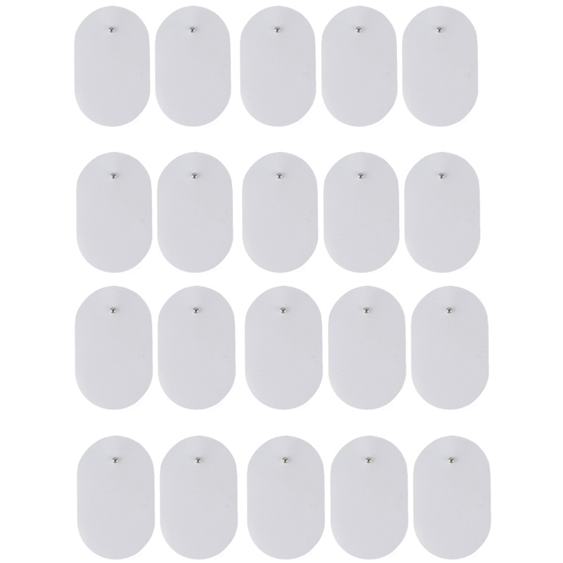 20Pcs 3.5mm Plug Gel Electrode Pads For Nerve Muscle Stimulator/Slimming Massager/TENS Acupuncture Pulse Electric Massager