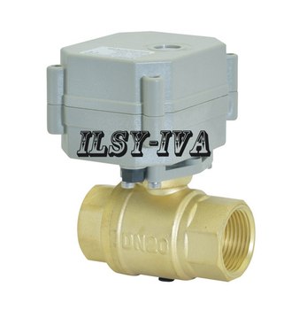 "G3/4"" Brass Motorized ball valve,DN20 9~24vac,9~24vdc 2 way Multi wire control Electric Ball Valve"