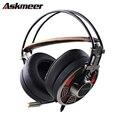 Askmeer V16 PC Gamer Computer Gaming Headset Super Gran Orejeras Estéreo Enchufe de Auriculares Para Juegos Con Micrófono USB Led de Cancelación de Ruido