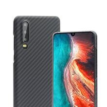 Huawei 社 P30 ケース高級スリム炭素繊維ケース保護電話アラミド繊維 Huawei 社 P30 プロケース Funda