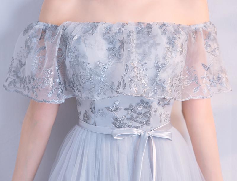 رمادي الزفاف اللباس فساتين 7