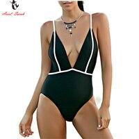 Ariel Sarah 2017 One Piece Swimsuit Cropped Tracksuit Woman Plus Size Swimwear Sexy Halter Women Swimsuit