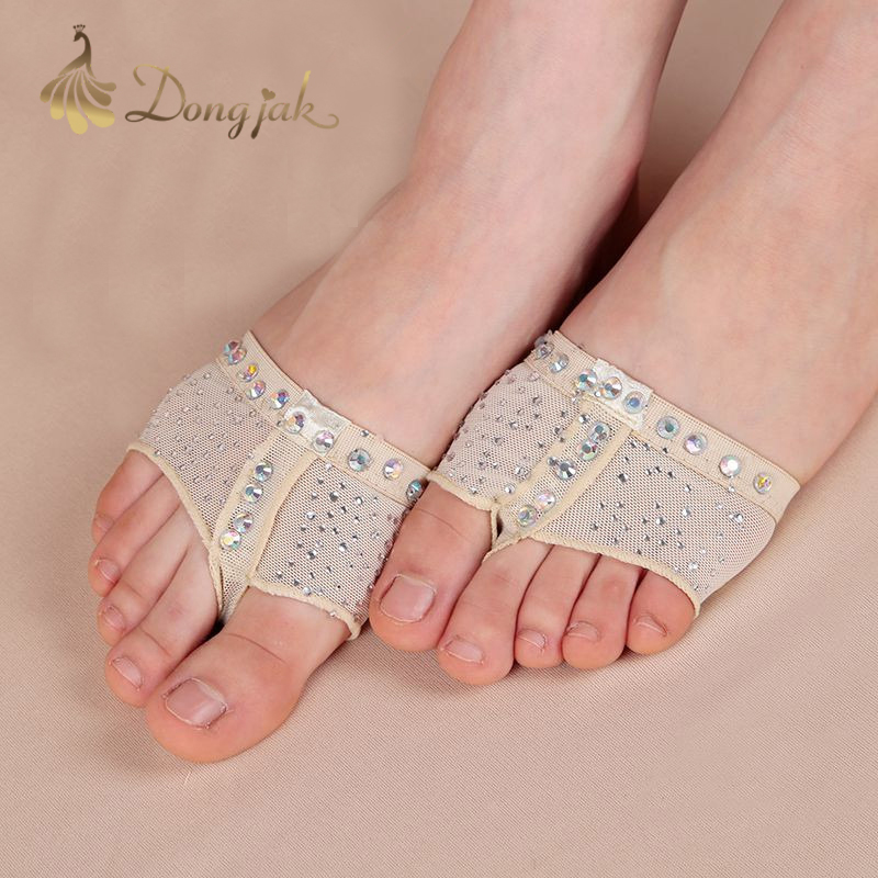 dongja New 2017 Heel Protector Professional Ballet Dance Socks 1 Pair Belly Dancing Foot thong Dance Accessories Toe Pads T 1708 in Yoga Socks from Sports Entertainment