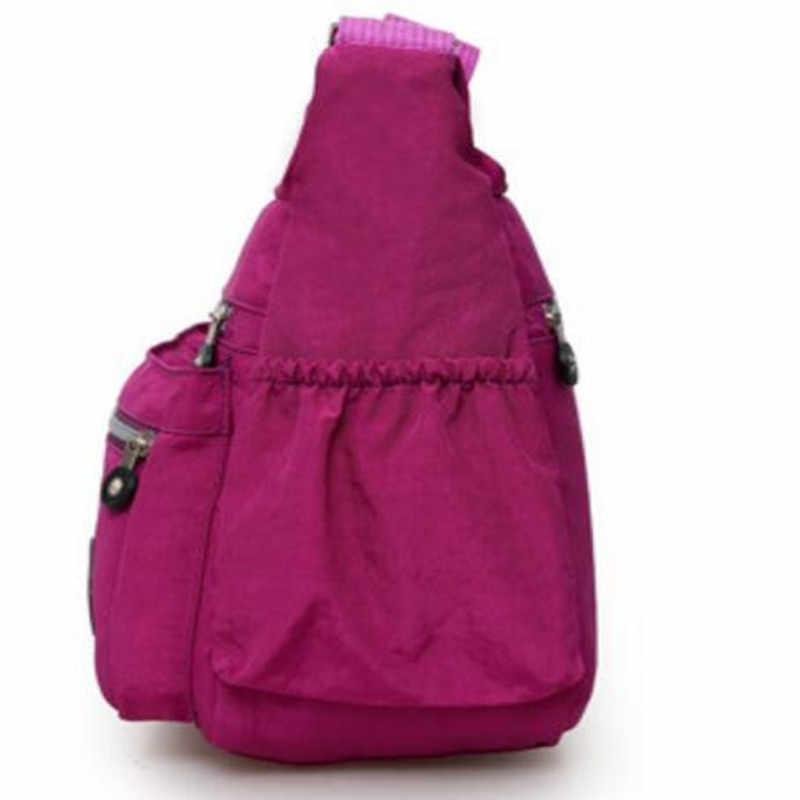 Bolso KipleFamous Thiết Kế Thương Hiệu Nữ Sứ Giả Túi Nylon Giản Dị Shoulderbag Túi Xách Hoa Dây Kéo Crossbody Bag Bolsos sacamain