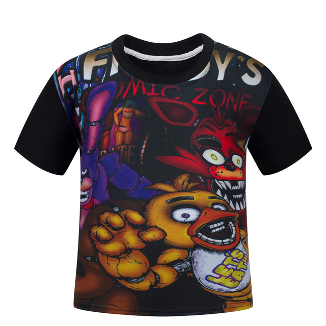 591f9875adee1 US $6.77 23% OFF|Summer Baby boy clothes cartoon children t shirts five  nights at freddy's clothing camiseta kids clothes boys t shirt 5 freddys-in  ...