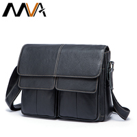 MVA Genuine Leather Men Bags Men Messenger Handbag Travel Shoulder Bags Solid Men S Crossbody Handbag