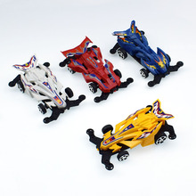 2pcs/lot 10CM Plastic Pull Back Car Model Toy for Boys Gift