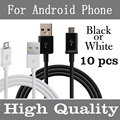Micro USB Cable Charger Cord for Samsung Galaxy High Quality Data Sync Phone Cable for HTC LG Sony Android Phone 10pcs/lot