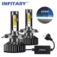 Infitary Car Headlight H7 LED H4 LED H1 H11 H3 H13 H27 880 9006 9007 72W 8000LM 6500K 12V 24V Auto Headlamp COB Fog Light Bulb(China)