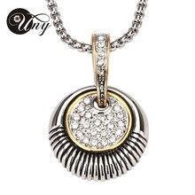 Lo nuevo de la marca HARDY pequeño estilo Retro de moda ronda joyería del dorado gargantilla Crystal collares y colgantes