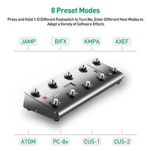 Image 4 - Midi Chỉ Huy Đàn Guitar Di Động USB Midi Chân Điều Khiển Với 10 Chân Công Tắc 2 Biểu Hiện Đạp Chân Jack Cắm 8 Dẫn Chương Trình Cài Đặt Sẵn Cho sống