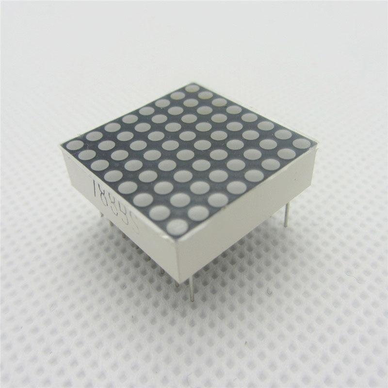10 Pcs 8x8 8*8 Mini Dot Matrix DIY Display Red Common Anode Digital Tube 16-pin 20mmx20mm 1.9mm DIY Electronic LED For Arduino