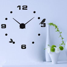 Acrylic +EVA 9 mm Sheet Wall Clock Living Room Still life Single Face Exquisite Gift European Style Clocks