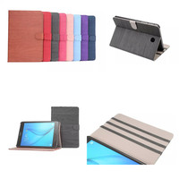 Retro Wood Design PU Leather Case Stand Protective Cover For Samsung Galaxy Tab A 8 0