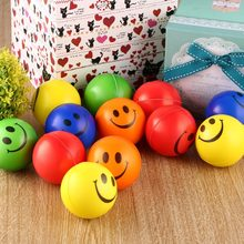 Bargain 12PCS Smile Face Anti Stress Relief Sponge Foam Balls Hand Strength Squeeze Ball Children Adult Hand Exercise Toy Balls Toys save
