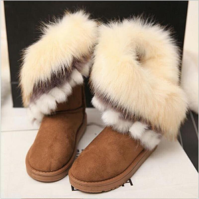 2019 Children Girl Party Shoes Kids Winter Fur Rubber Boots Girls Fashion Snow Shoes Teenage Girl Warm Non-Slip Princess Boots угги с розовым мехом