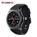 Lemfo lf16 android 5.1 os smart watch phone mtk6580 quad core 512 mb + 8 gb 400*400 1.39 ''tela 3g smartwatch wifi suporte gps mp3